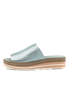 ACCOLADE PALE BLUE METAL EMBOSSED LEATHER