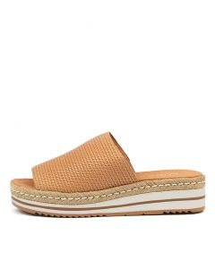 ACCOLADE TAN EMBOSSED LEATHER