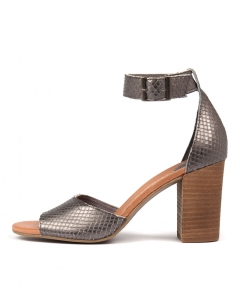 TAMIKA PEWTER CUT LEATHER