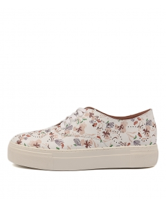 DECLARE WHITE FLORAL LEATHER