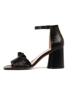 NELIA BLACK SNAKE LEATHER