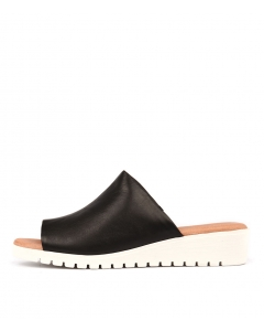 MELODIE BLACK WHITE SOLE LEATHER