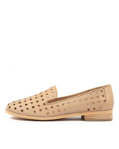 QIANA NUDE EMBOSSED LEATHER