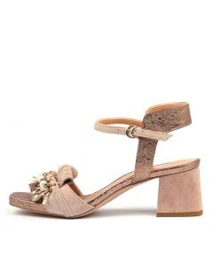 PERDY PALE PINK ROSE GOLD SUEDE LEATHER